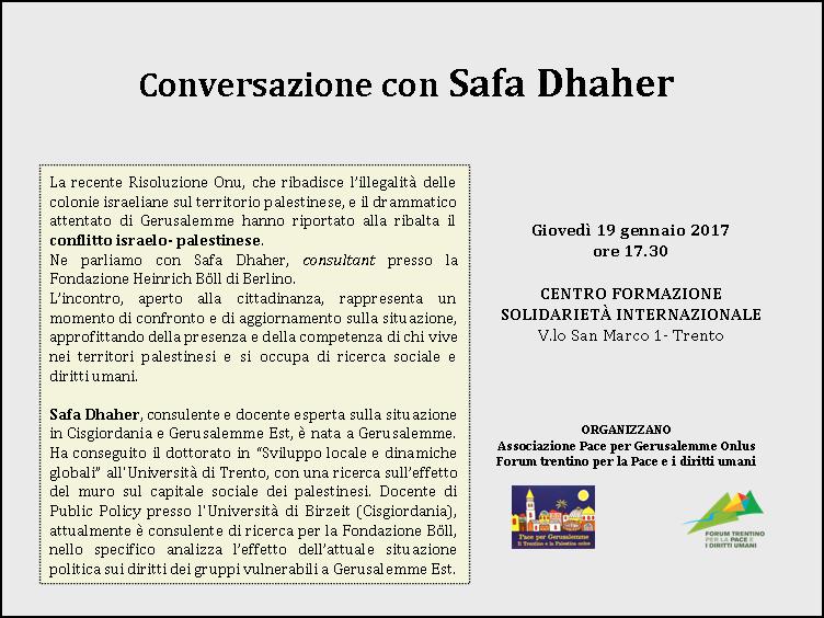 conversazioni con Safa